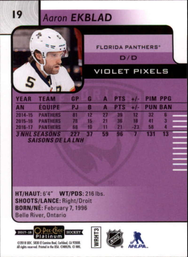 Pick Your Cards 2017-18 O-Pee-Chee Platinum Hockey Violet Pixel Singles