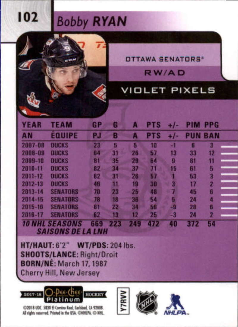 2017-18-O-Pee-Chee-Platinum-Hockey-Violet-Pixel-Singles-Pick-Your-Cards miniature 9