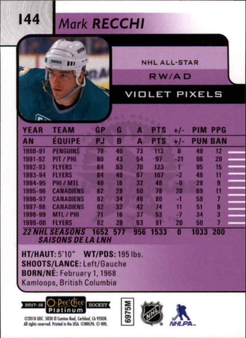 2017-18-O-Pee-Chee-Platinum-Hockey-Violet-Pixel-Singles-Pick-Your-Cards miniature 13