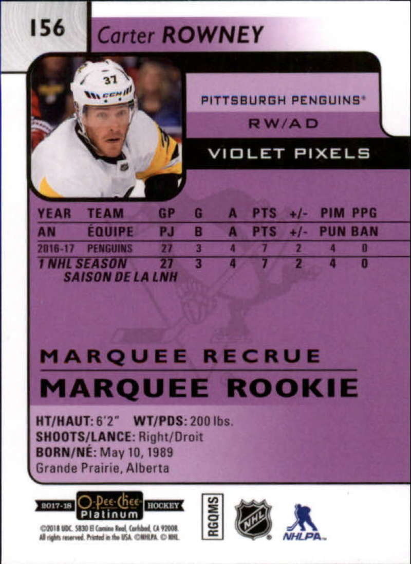 2017-18-O-Pee-Chee-Platinum-Hockey-Violet-Pixel-Singles-Pick-Your-Cards miniature 17