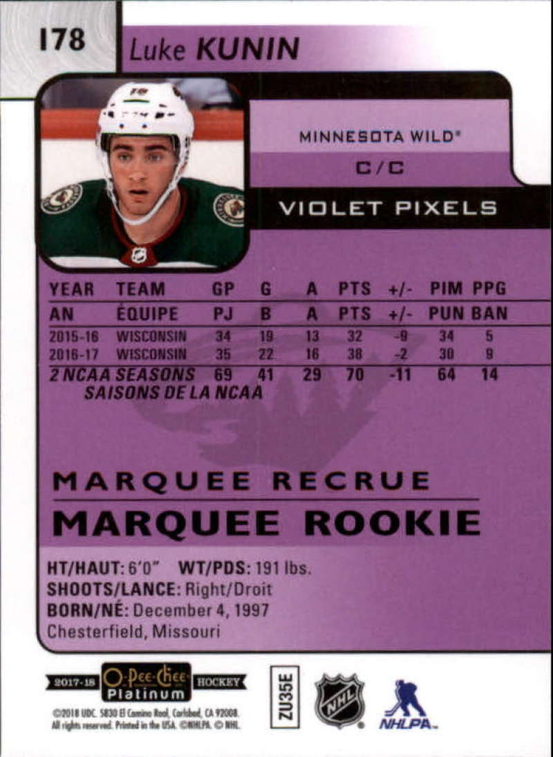 2017-18-O-Pee-Chee-Platinum-Hockey-Violet-Pixel-Singles-Pick-Your-Cards miniature 23