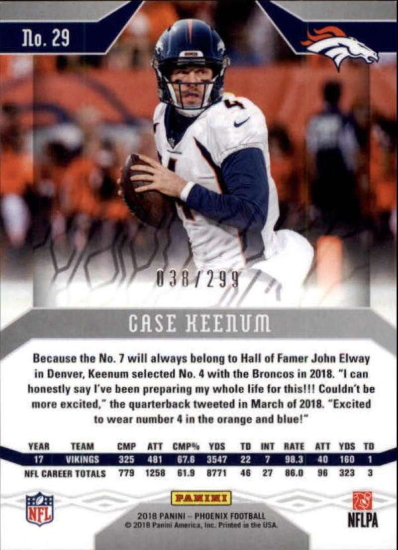 2018-Panini-Phoenix-Football-Red-Parallel-Singles-299-Pick-Your-Cards thumbnail 15