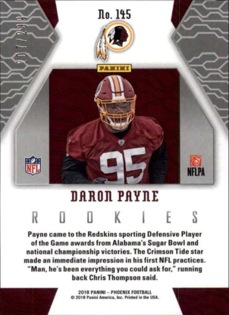 2018-Panini-Phoenix-Football-Red-Parallel-Singles-299-Pick-Your-Cards thumbnail 43