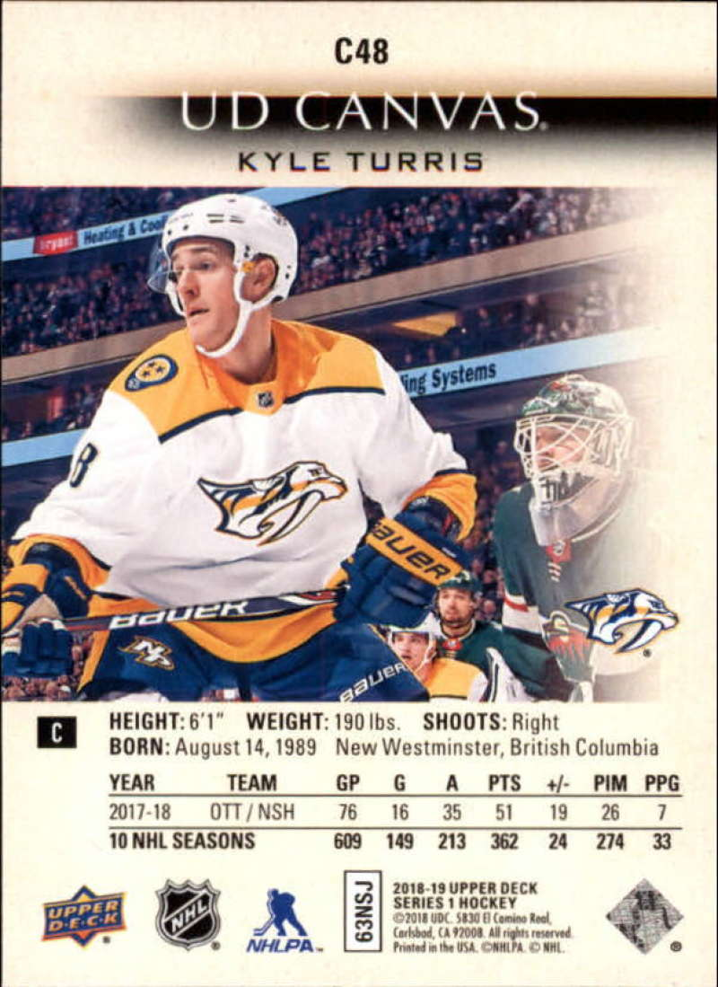 2018-19-Upper-Deck-Series-1-NHL-Hockey-Canvas-Singles-Pick-Your-Cards miniature 35
