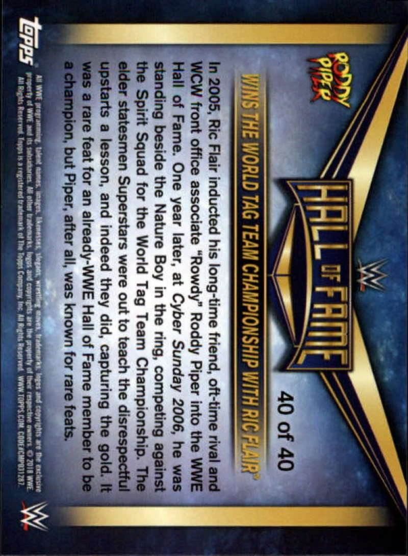2018-Topps-WWE-Then-Now-Forever-Rowdy-Roddy-Piper-Tribute-Singles-Pick-Ur-Cards
