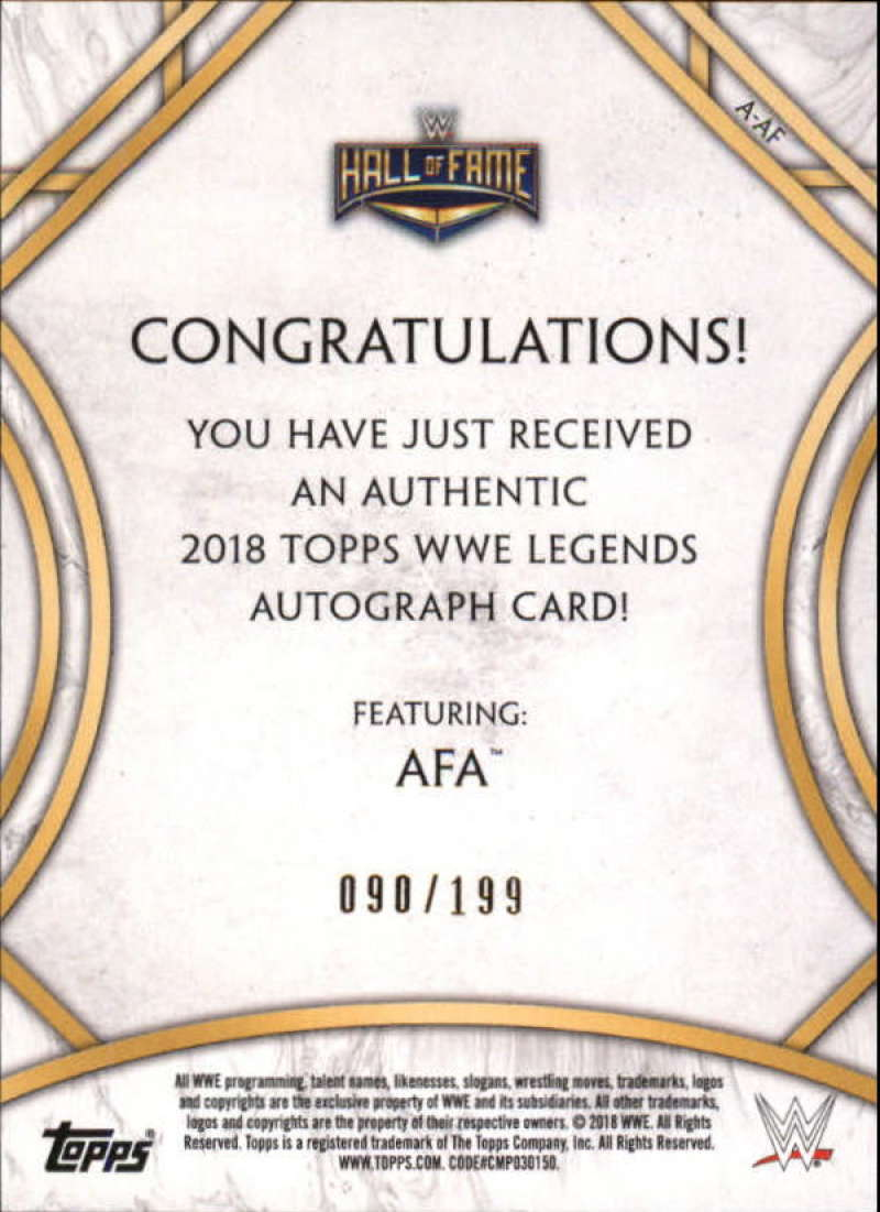 2018-Topps-Legends-of-WWE-Wrestling-Autograph-Singles-Pick-Your-Cards thumbnail 3
