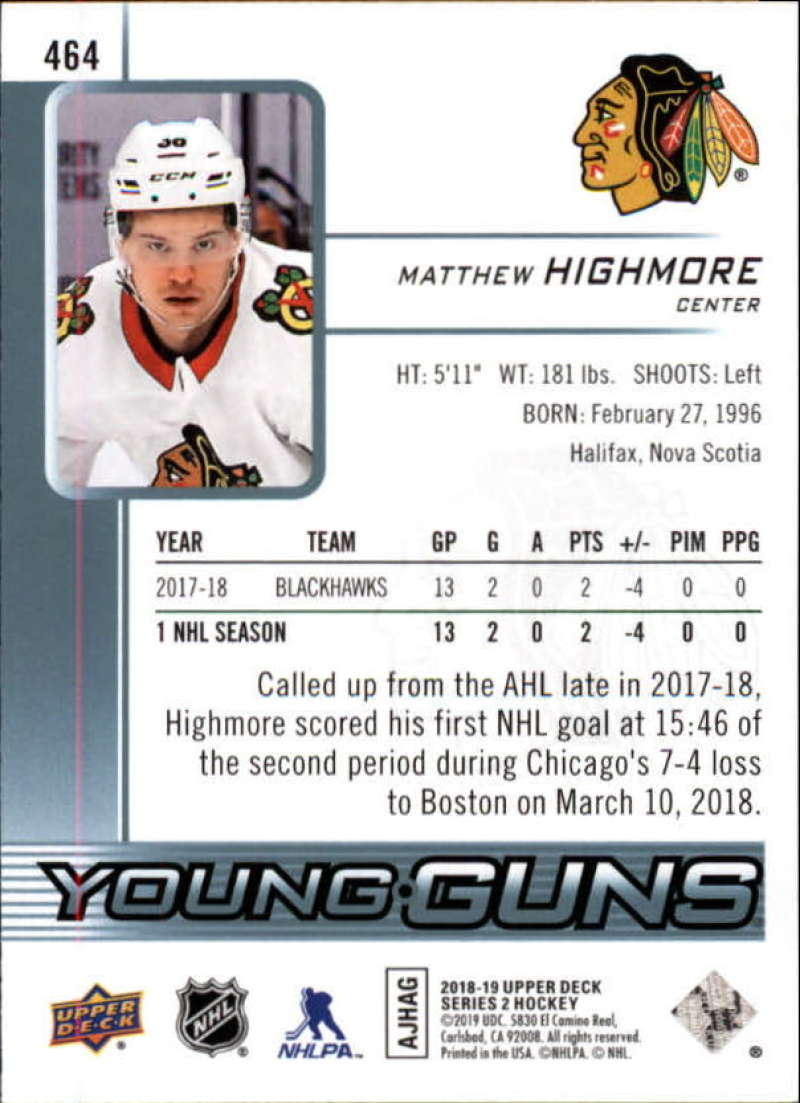 2018-19-Upper-Deck-Series-2-NHL-Hockey-Young-Guns-Base-Singles-Pick-Your-Cards miniature 23