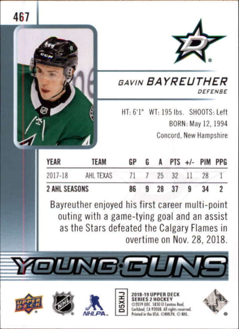 2018-19-Upper-Deck-Series-2-NHL-Hockey-Young-Guns-Base-Singles-Pick-Your-Cards miniature 35