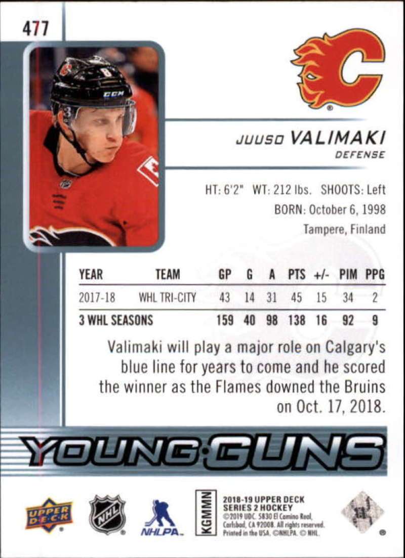 2018-19-Upper-Deck-Series-2-NHL-Hockey-Young-Guns-Base-Singles-Pick-Your-Cards miniature 53
