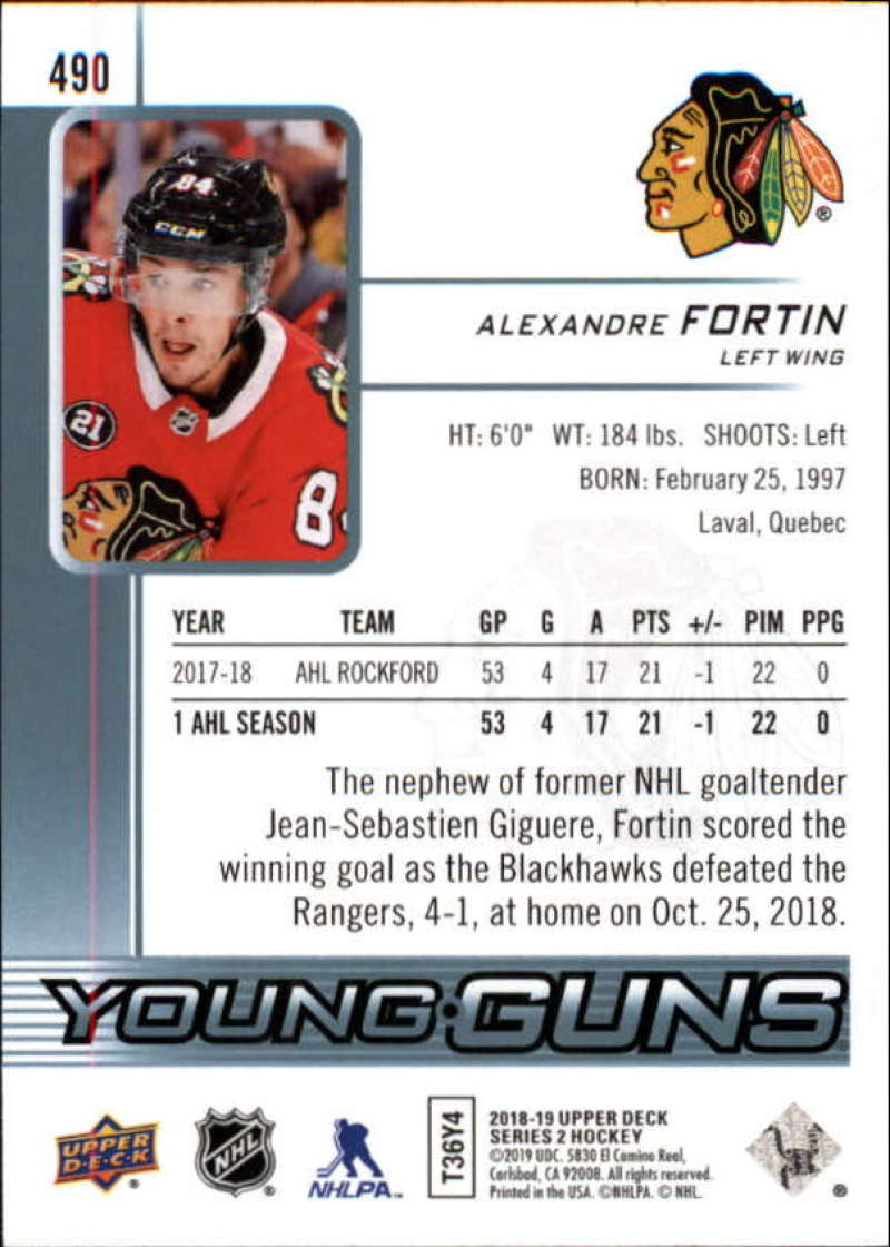 2018-19-Upper-Deck-Series-2-NHL-Hockey-Young-Guns-Base-Singles-Pick-Your-Cards miniature 73