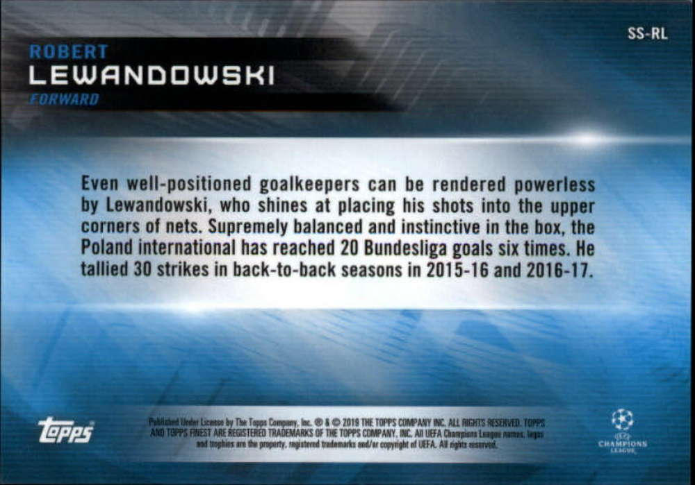 2018-19 Topps Finest UEFA Champions League-Robert Lewandowski-elige Tarjetas