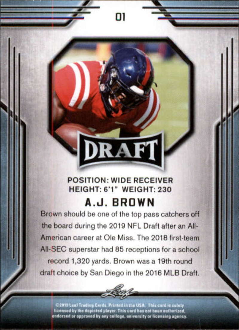 2019-Leaf-Draft-Football-Base-Singles-1-90-Pick-Your-Cards thumbnail 3