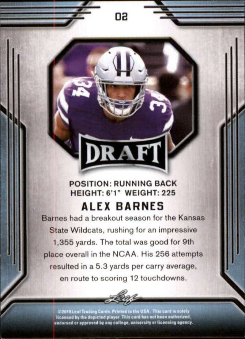 2019-Leaf-Draft-Football-Base-Singles-1-90-Pick-Your-Cards thumbnail 5