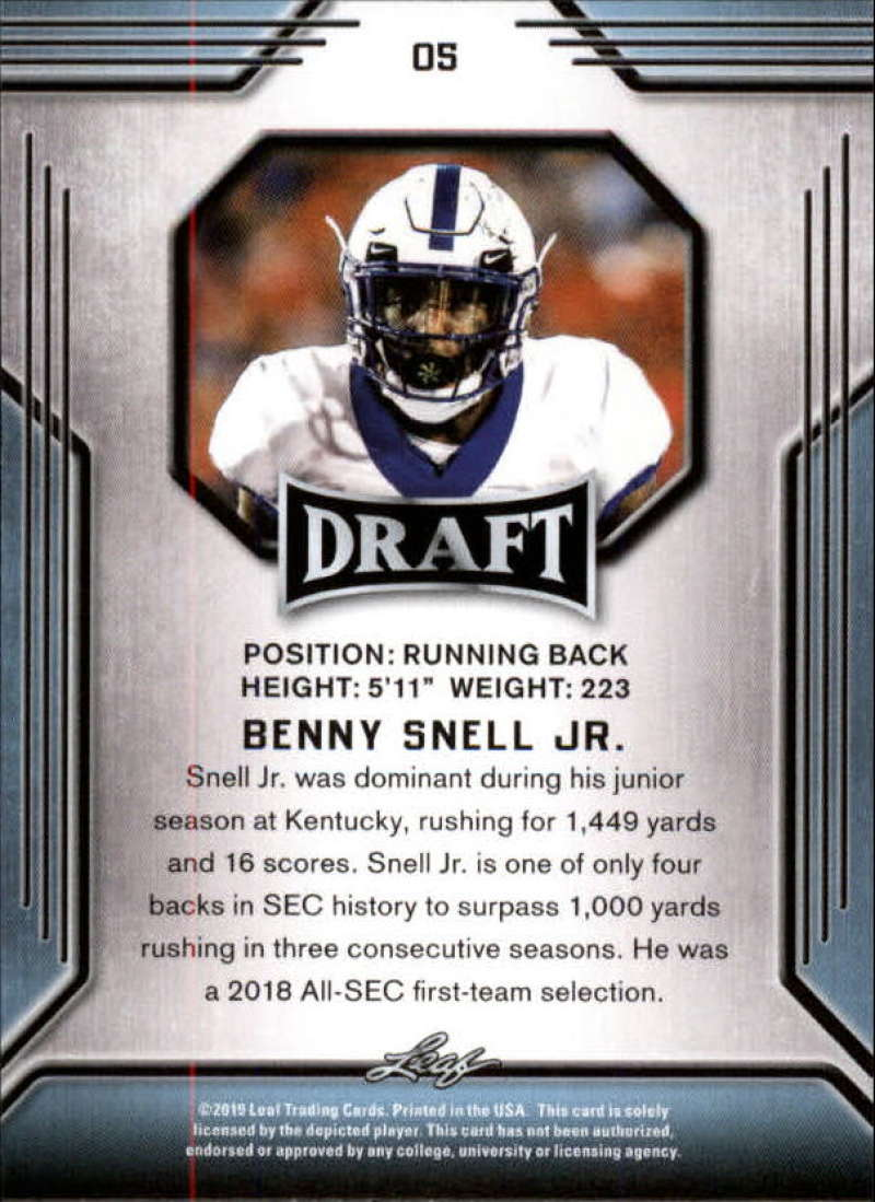 2019-Leaf-Draft-Football-Base-Singles-1-90-Pick-Your-Cards thumbnail 11