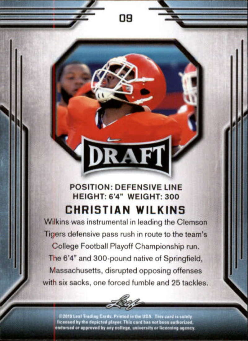 2019-Leaf-Draft-Football-Base-Singles-1-90-Pick-Your-Cards thumbnail 19