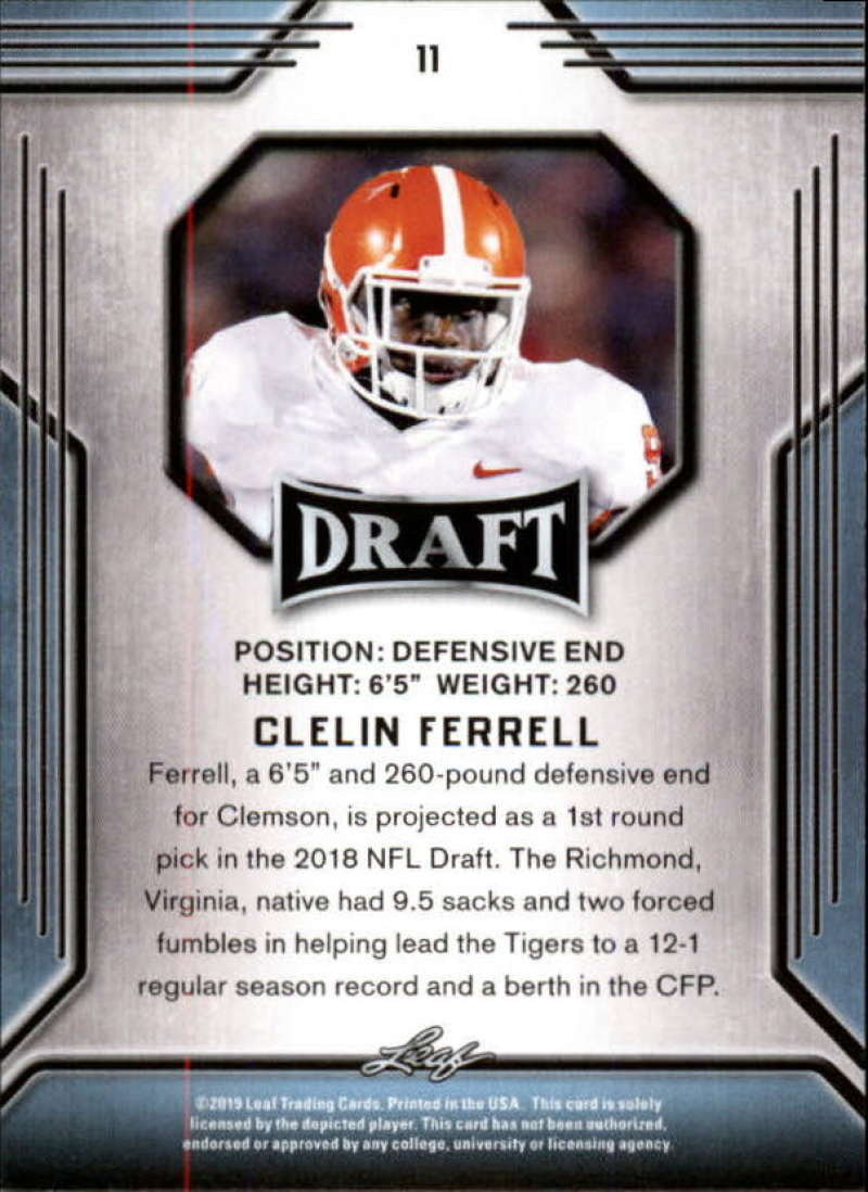2019-Leaf-Draft-Football-Base-Singles-1-90-Pick-Your-Cards thumbnail 23