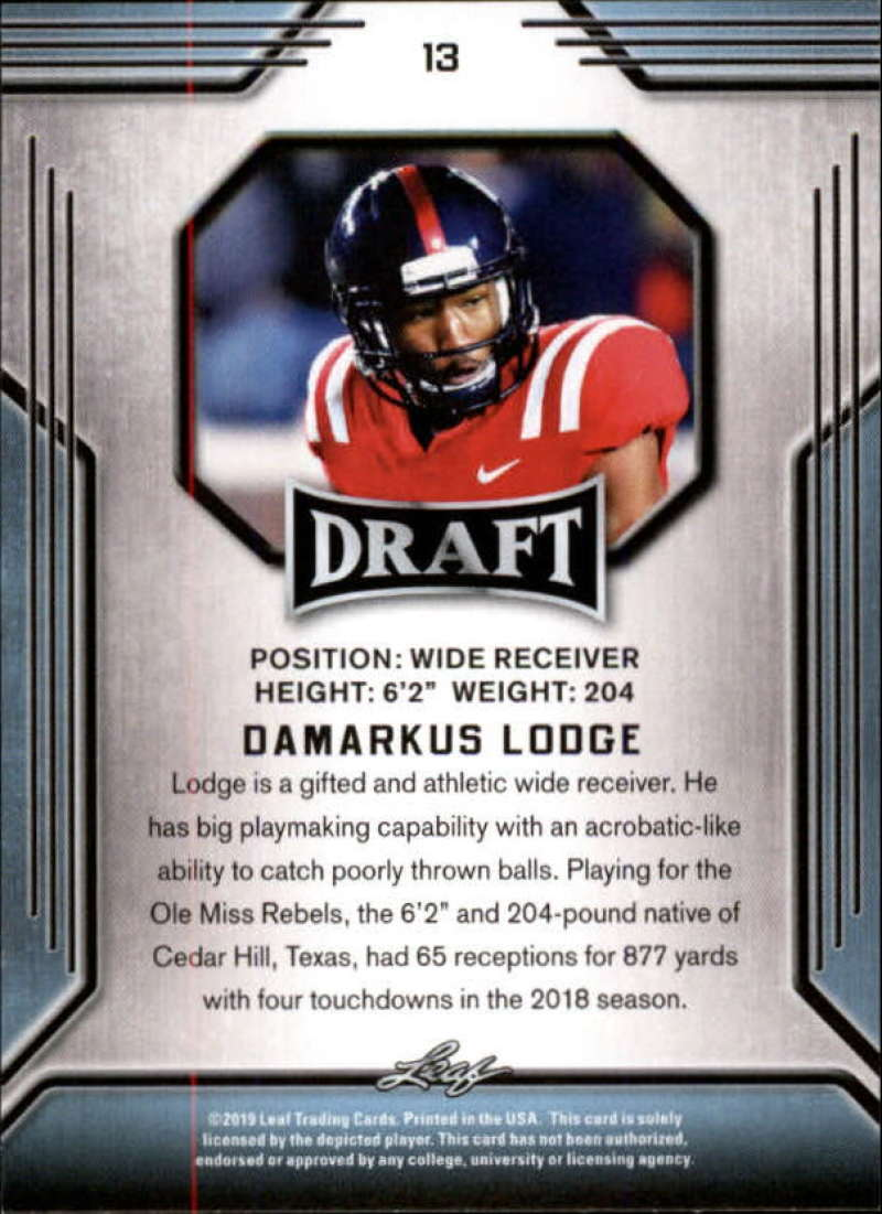 2019-Leaf-Draft-Football-Base-Singles-1-90-Pick-Your-Cards thumbnail 27
