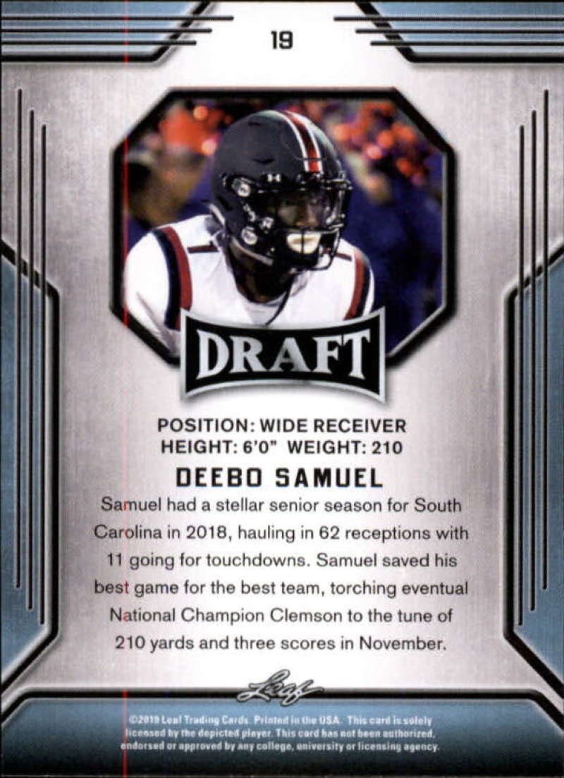 2019-Leaf-Draft-Football-Base-Singles-1-90-Pick-Your-Cards thumbnail 39