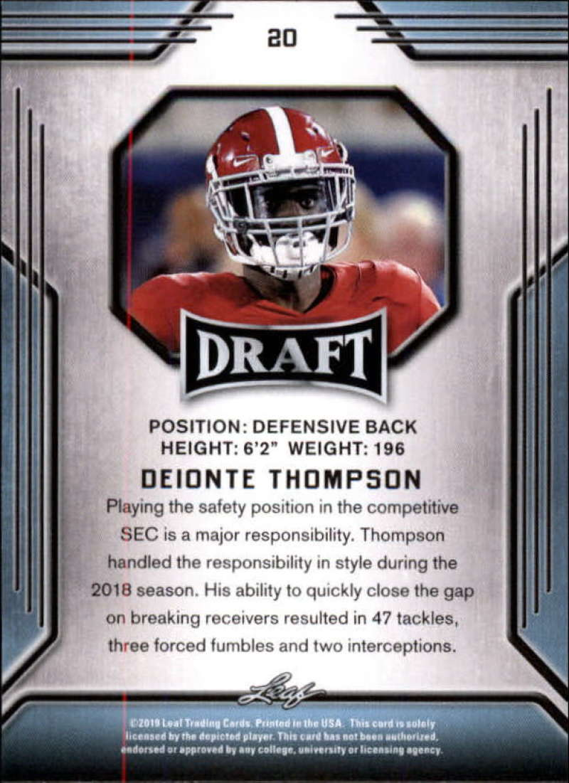 2019-Leaf-Draft-Football-Base-Singles-1-90-Pick-Your-Cards thumbnail 41