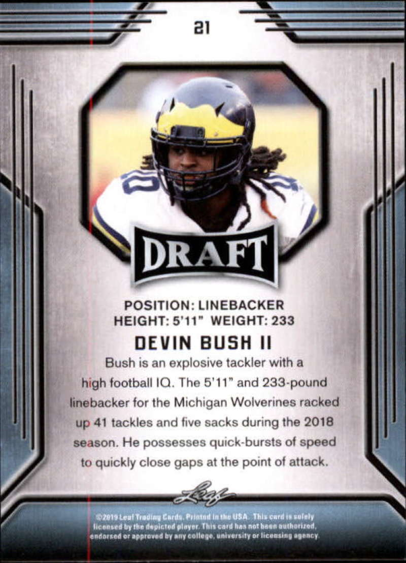 2019-Leaf-Draft-Football-Base-Singles-1-90-Pick-Your-Cards thumbnail 43