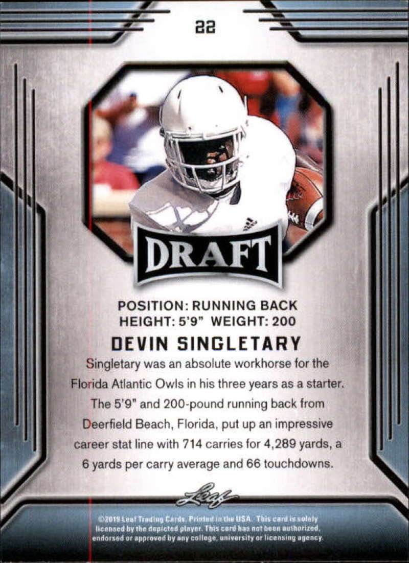 2019-Leaf-Draft-Football-Base-Singles-1-90-Pick-Your-Cards thumbnail 45