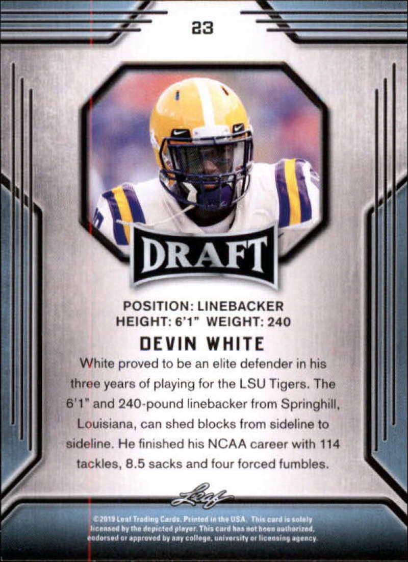2019-Leaf-Draft-Football-Base-Singles-1-90-Pick-Your-Cards thumbnail 47