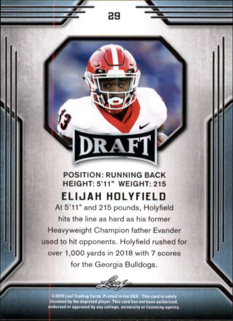 2019-Leaf-Draft-Football-Base-Singles-1-90-Pick-Your-Cards thumbnail 57