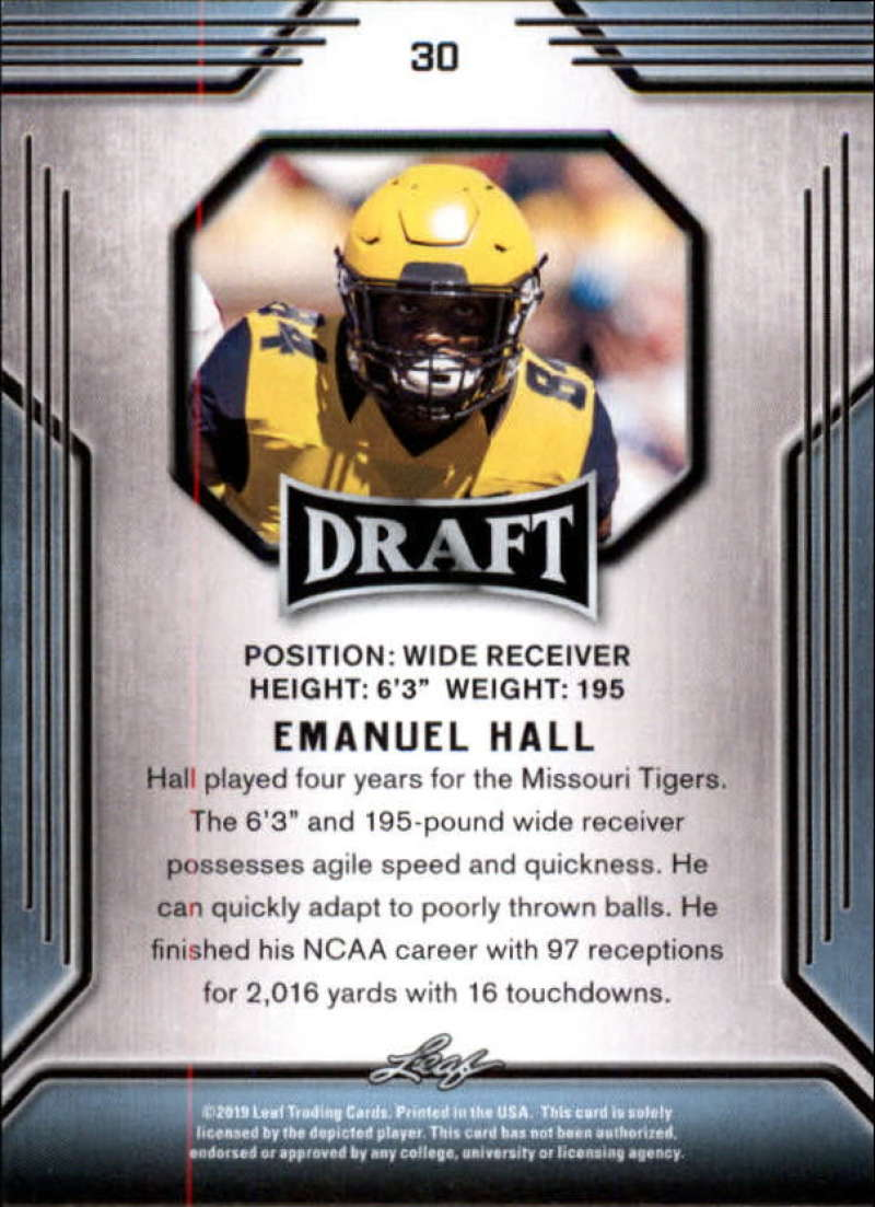2019-Leaf-Draft-Football-Base-Singles-1-90-Pick-Your-Cards thumbnail 59
