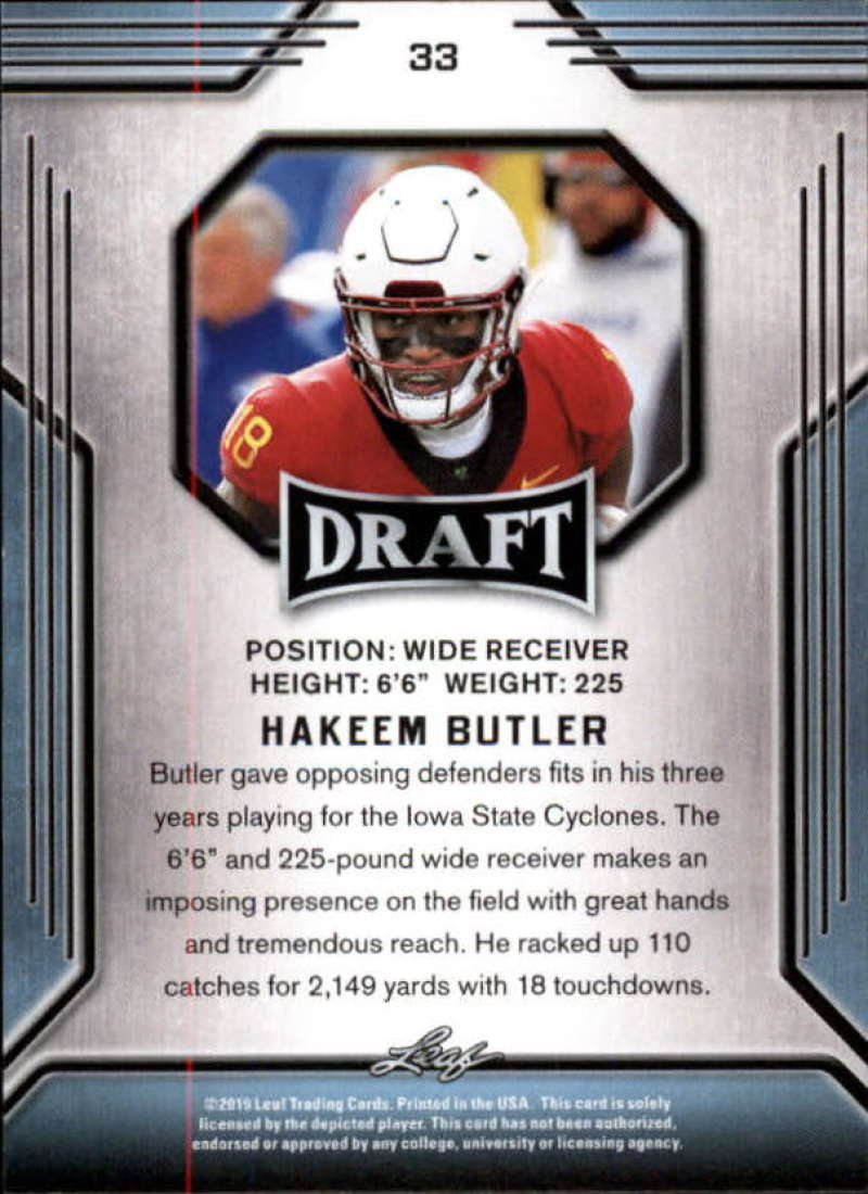 2019-Leaf-Draft-Football-Base-Singles-1-90-Pick-Your-Cards thumbnail 65