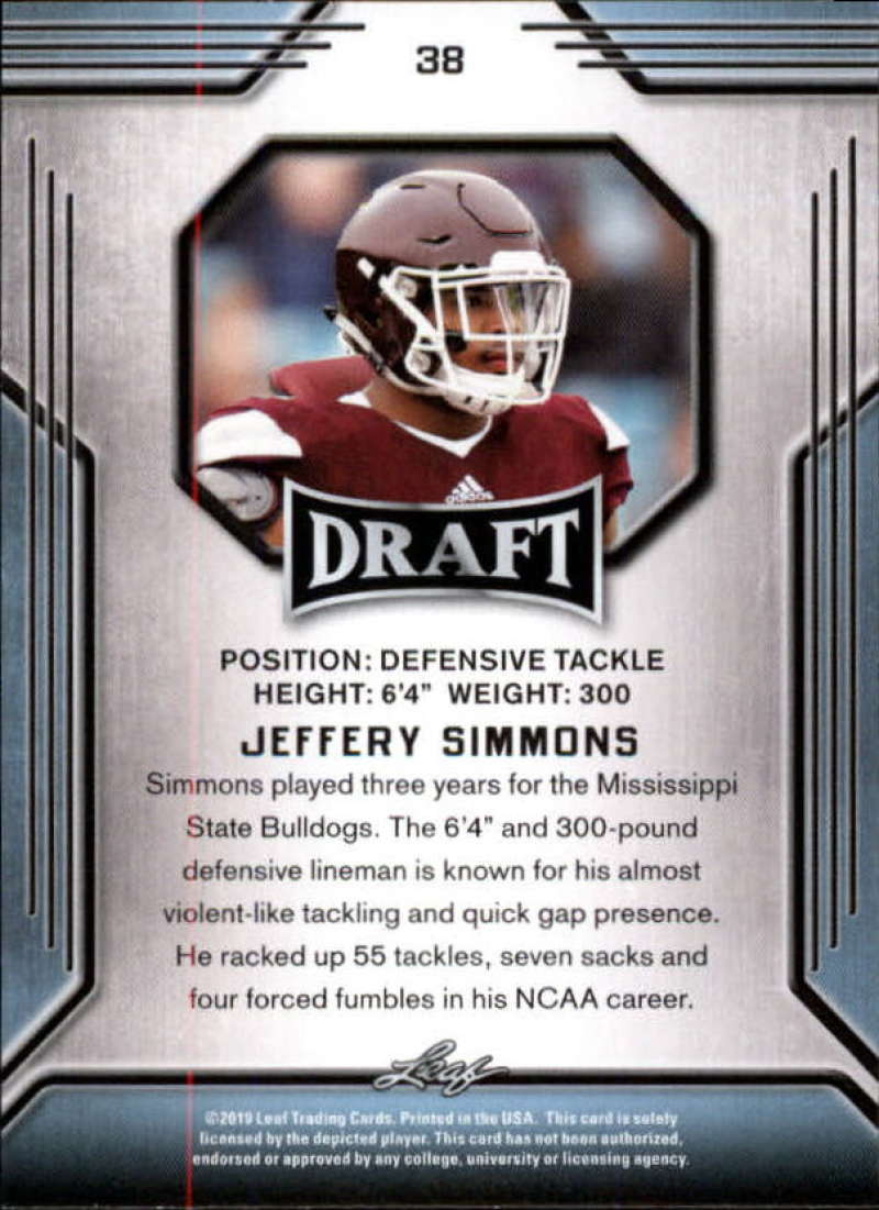 2019-Leaf-Draft-Football-Base-Singles-1-90-Pick-Your-Cards thumbnail 73