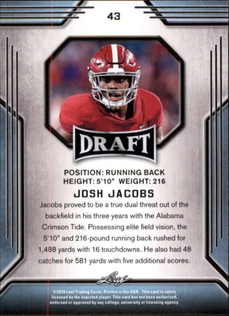 2019-Leaf-Draft-Football-Base-Singles-1-90-Pick-Your-Cards thumbnail 83