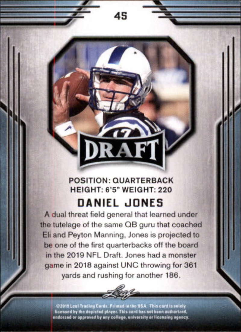 2019-Leaf-Draft-Football-Base-Singles-1-90-Pick-Your-Cards thumbnail 87