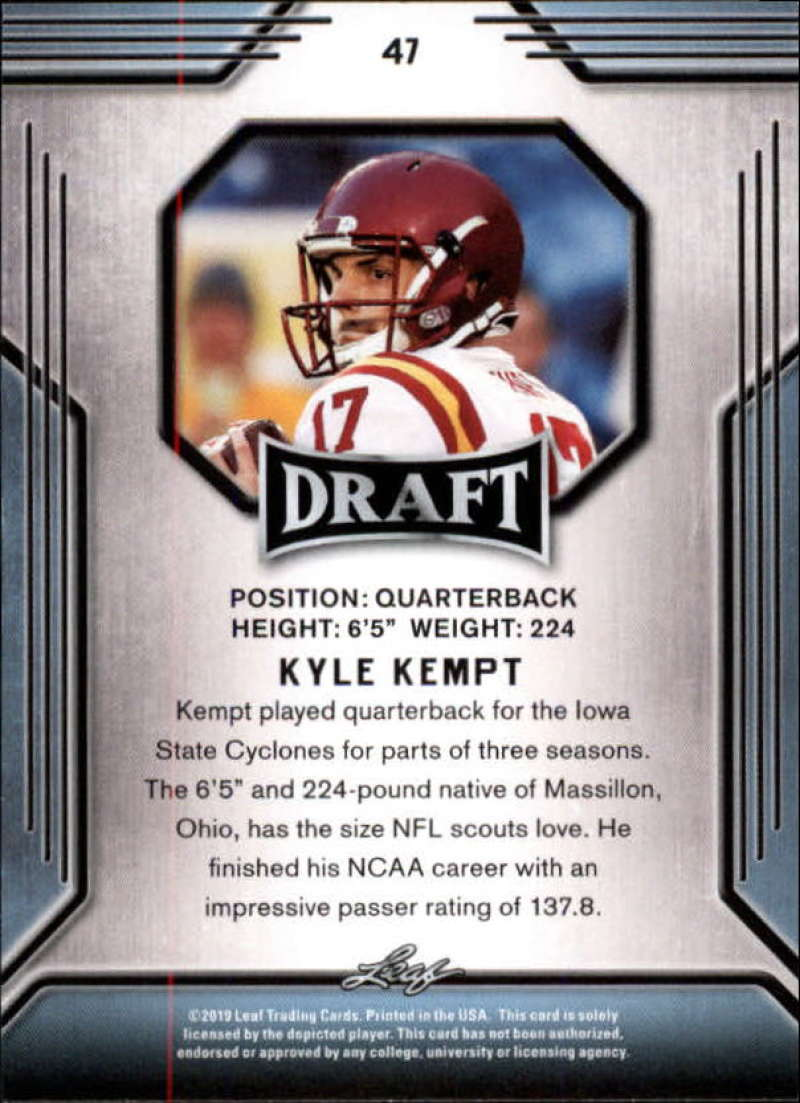 2019-Leaf-Draft-Football-Base-Singles-1-90-Pick-Your-Cards thumbnail 91