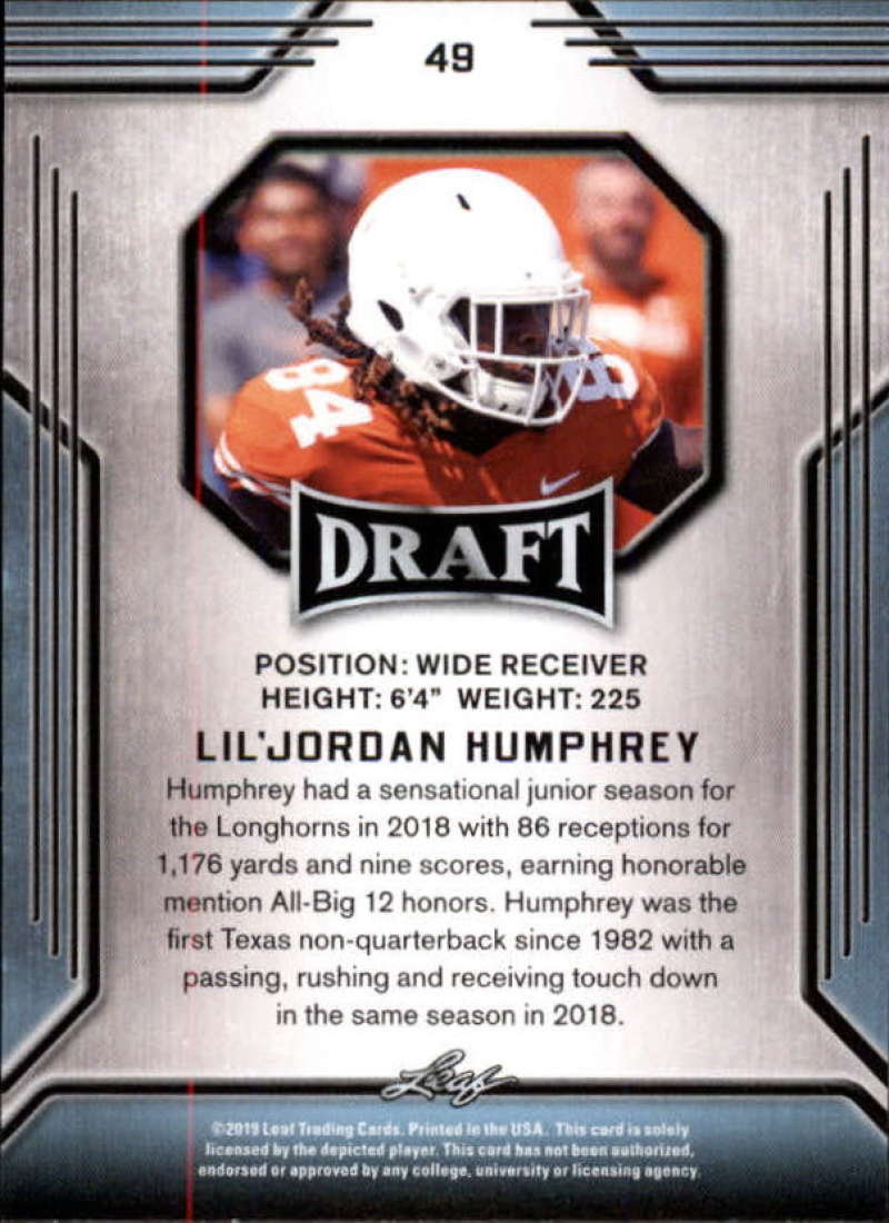 2019-Leaf-Draft-Football-Base-Singles-1-90-Pick-Your-Cards thumbnail 95