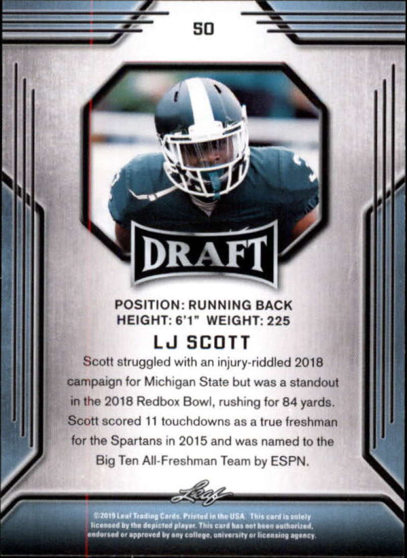 2019-Leaf-Draft-Football-Base-Singles-1-90-Pick-Your-Cards thumbnail 97