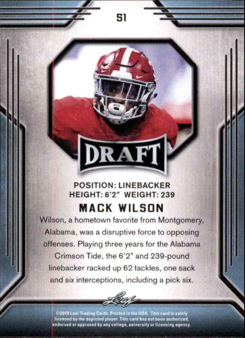 2019-Leaf-Draft-Football-Base-Singles-1-90-Pick-Your-Cards thumbnail 99