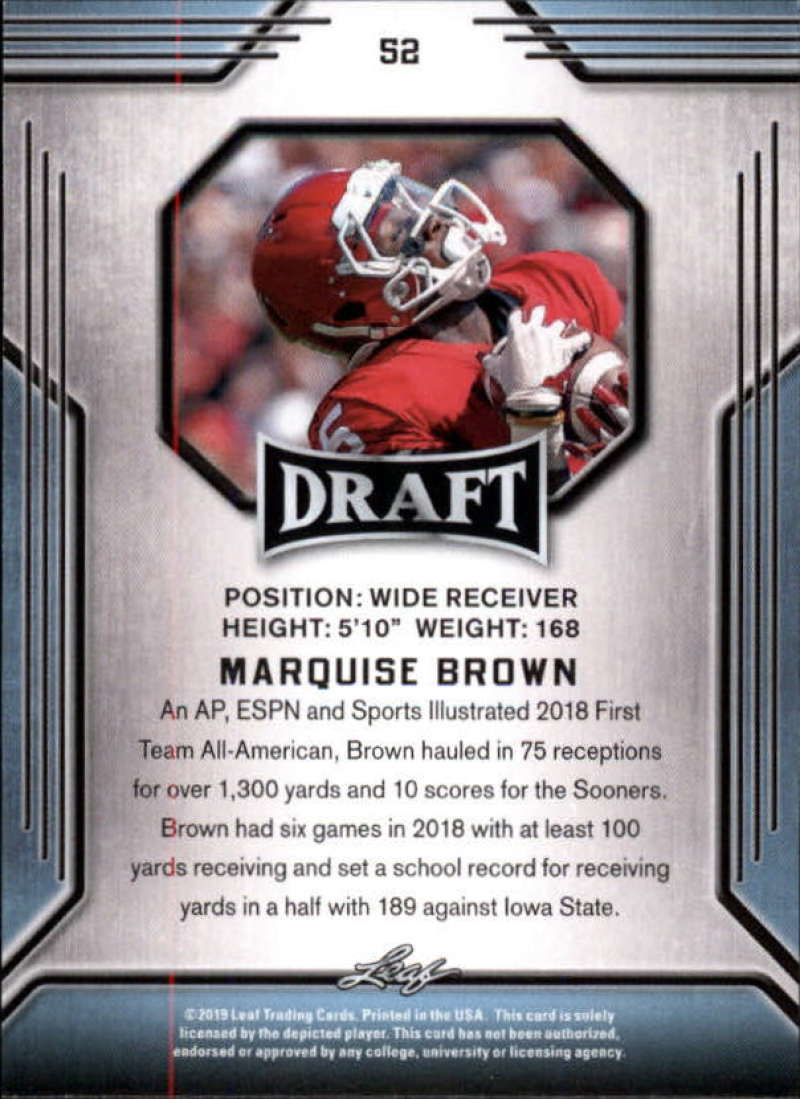 2019-Leaf-Draft-Football-Base-Singles-1-90-Pick-Your-Cards thumbnail 101