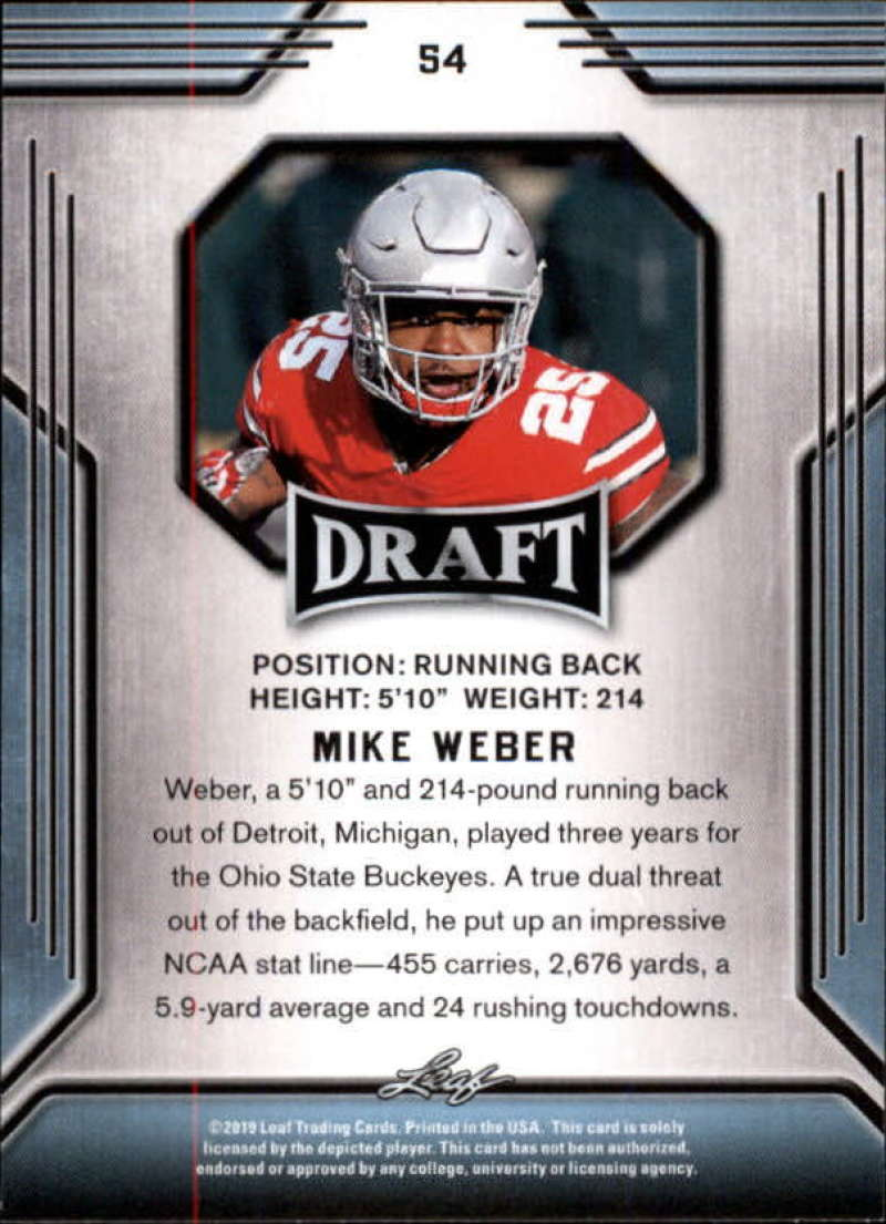 2019-Leaf-Draft-Football-Base-Singles-1-90-Pick-Your-Cards thumbnail 105