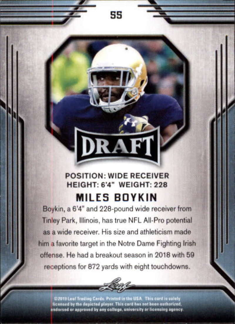 2019-Leaf-Draft-Football-Base-Singles-1-90-Pick-Your-Cards thumbnail 107