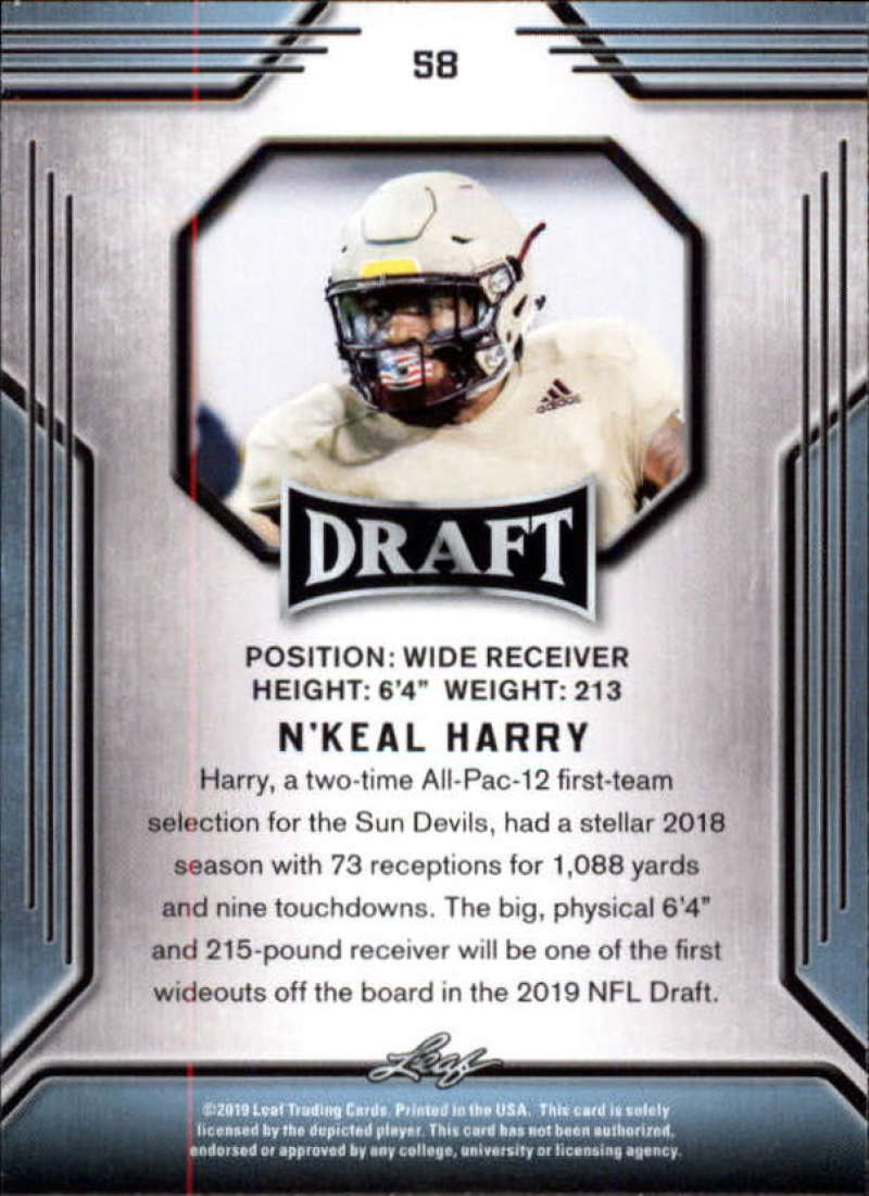 2019-Leaf-Draft-Football-Base-Singles-1-90-Pick-Your-Cards thumbnail 113