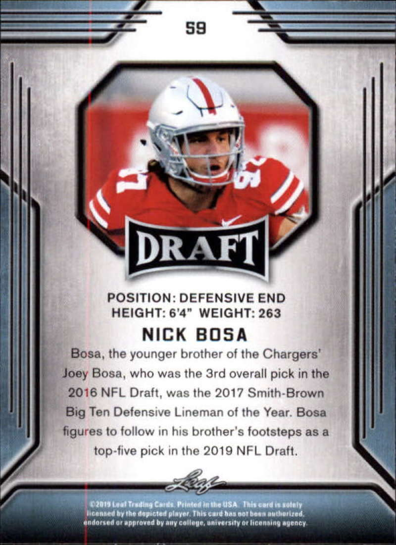 2019-Leaf-Draft-Football-Base-Singles-1-90-Pick-Your-Cards thumbnail 115