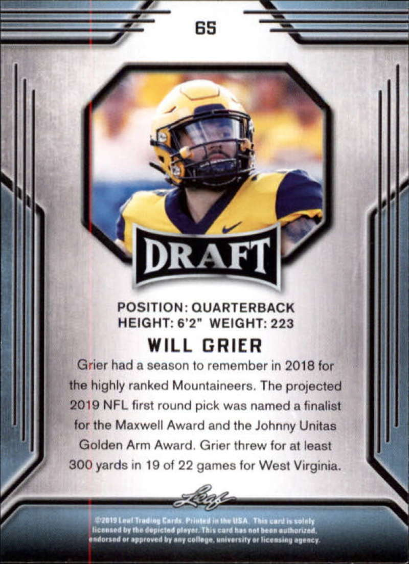 2019-Leaf-Draft-Football-Base-Singles-1-90-Pick-Your-Cards thumbnail 127