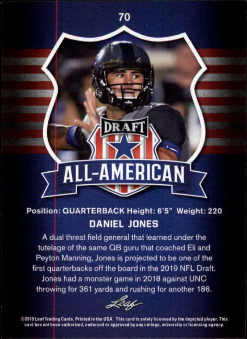 2019-Leaf-Draft-Football-Base-Singles-1-90-Pick-Your-Cards thumbnail 137