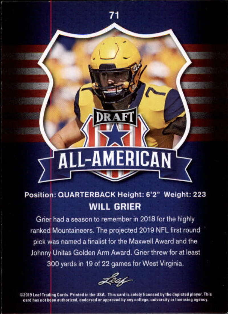 2019-Leaf-Draft-Football-Base-Singles-1-90-Pick-Your-Cards thumbnail 139