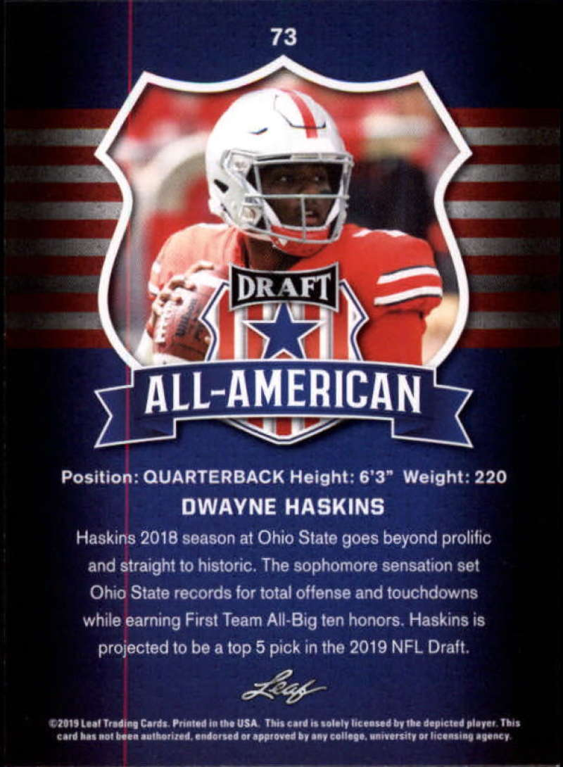 2019-Leaf-Draft-Football-Base-Singles-1-90-Pick-Your-Cards thumbnail 143