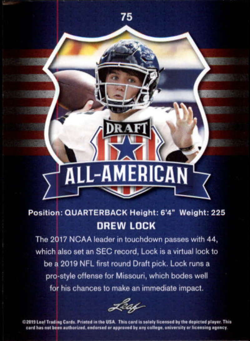 2019-Leaf-Draft-Football-Base-Singles-1-90-Pick-Your-Cards thumbnail 147