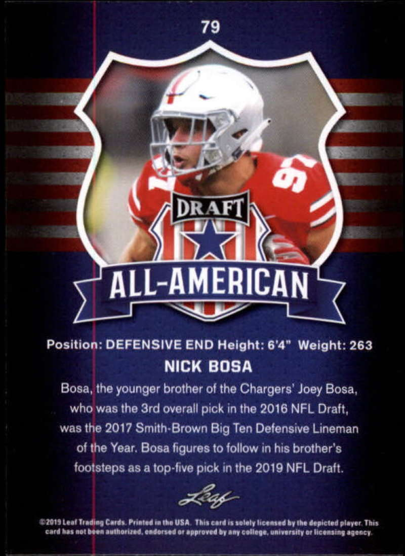 2019-Leaf-Draft-Football-Base-Singles-1-90-Pick-Your-Cards thumbnail 155