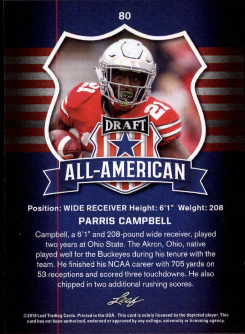 2019-Leaf-Draft-Football-Base-Singles-1-90-Pick-Your-Cards thumbnail 157