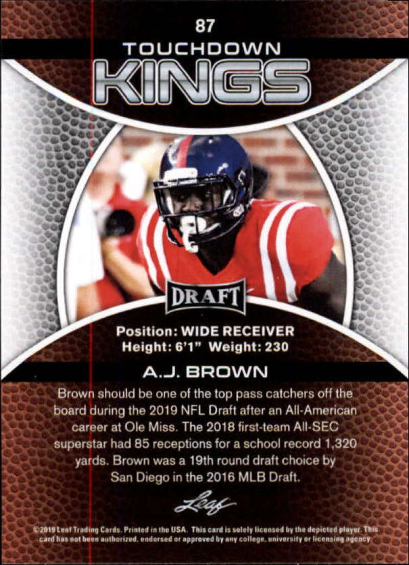 2019-Leaf-Draft-Football-Base-Singles-1-90-Pick-Your-Cards thumbnail 171