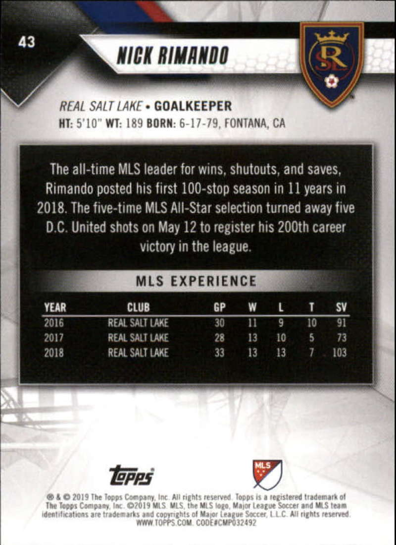 2019-Topps-MLS-Soccer-Base-Singles-1-200-Pick-Your-Cards thumbnail 83